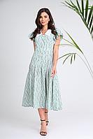 Женское летнее бирюзовое платье SandyNa 13933 бирюзовый 44р.