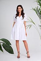 Женское летнее хлопковое белое платье SandyNa 13977 белый 44р.