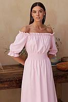 Женское летнее хлопковое розовое платье Zoe 0039 /07 42р.