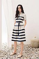 Женское летнее льняное платье Alena Goretskaya А1187/1 42р.