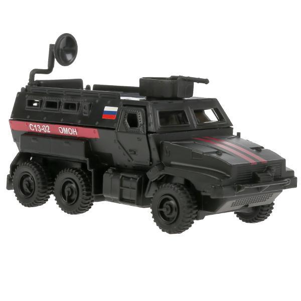 ТехноПарк Металлическая модель Бронированный Автомобиль ОМОН С13-02, матовый черный, 12 см.