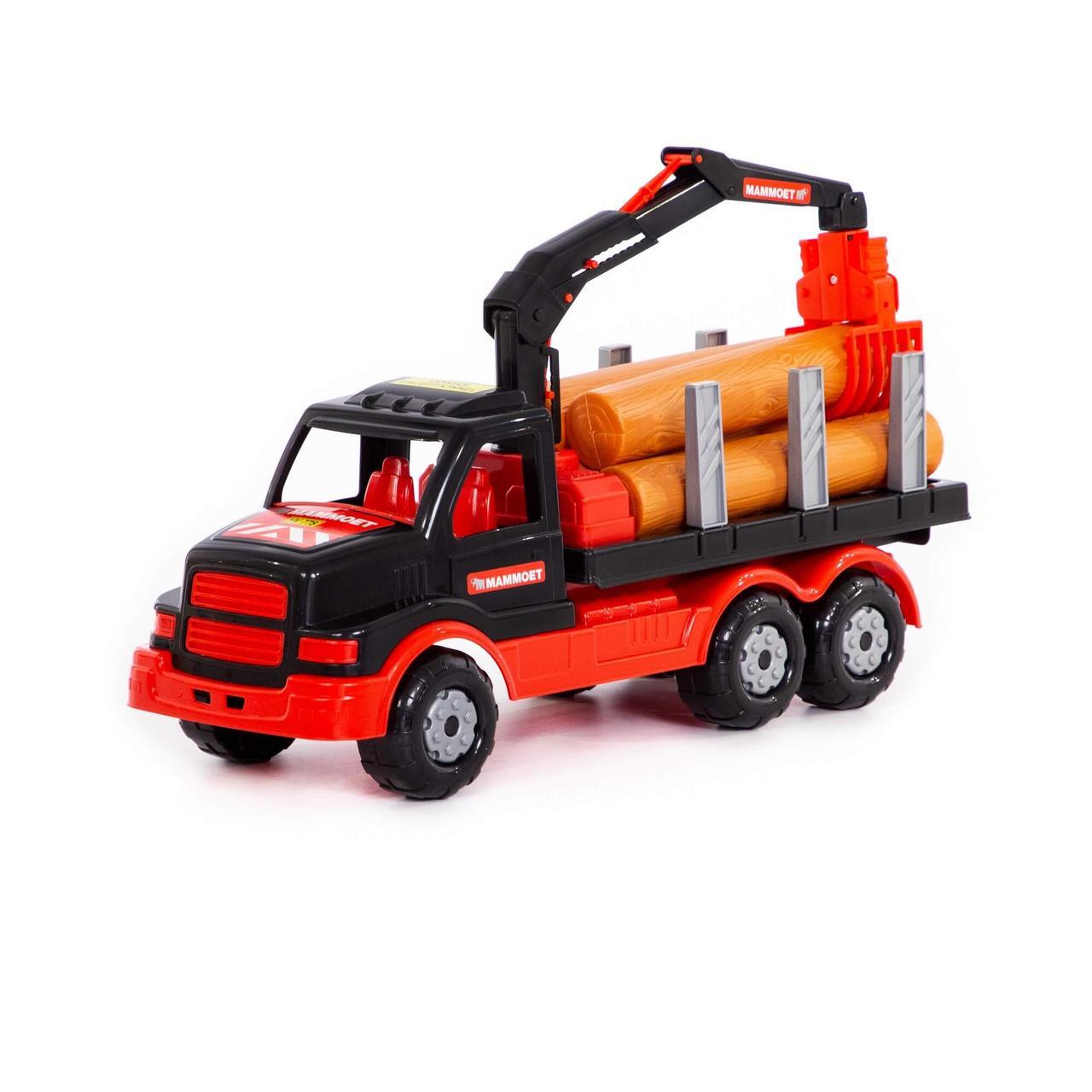 Полесье Игрушечный Автомобиль Лесовоз Mammoet с манипулятором