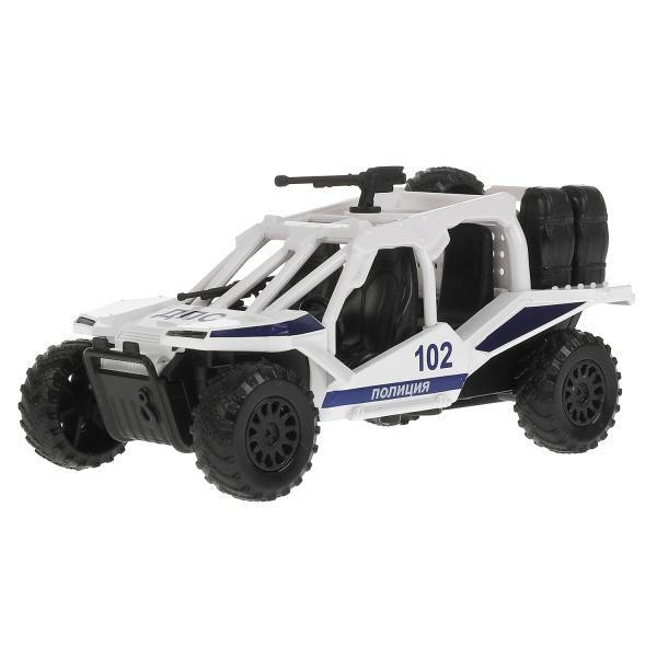 ТехноПарк Металлическая инерционная модель Вездеход Полиция белый, 12 см.