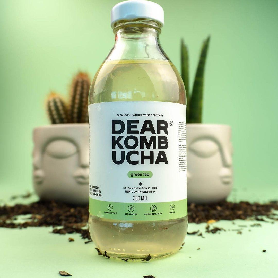 """Комбуча """"Green tea"""". 330 мл. Dear kombucha"""