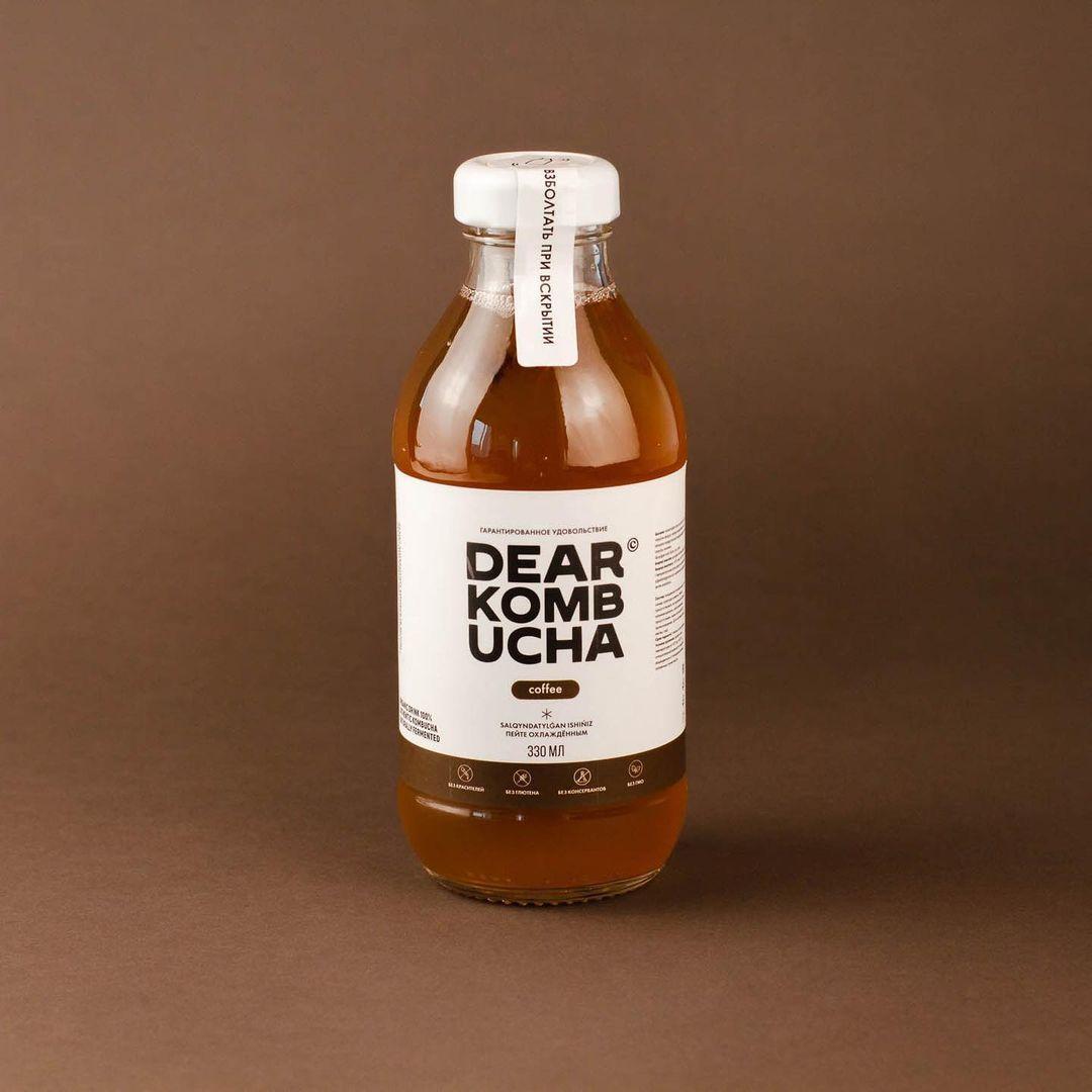 "Комбуча ""Coffee"". 330 мл. Dear kombucha"