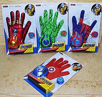 WC10-12 ABCD Перчатка Avengers Super Hero стреляет фишками 4 вида 29*18