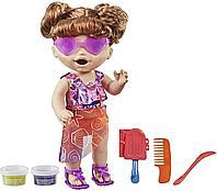 Кукла интерактивная Baby Alive Sunshine Snacks Летние забавы брюнетка