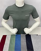 Мужская футболка зеленый цвет хаки.