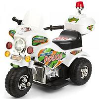 Детский электро мотоцикл Bugati бело-черный