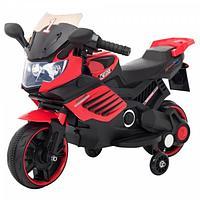 Детский электро мотоцикл Bugati красно-черный