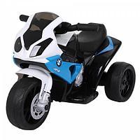 Детский электромотоцикл Bugati BMW бело-синий