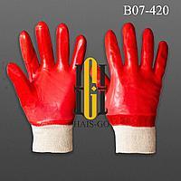 PVC Рабочие перчатки с начесом и без начеса