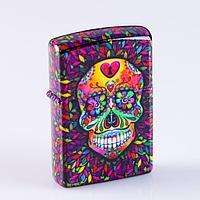"""Зажигалка электронная """"Muerte"""", в подарочной коробке, USB, дуговая, 3.7х5.8 см"""