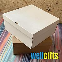 Подарочная картонная упаковка 20х20х10 см Бурый
