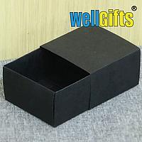 Подарочная коробка пенал с черным бархатом