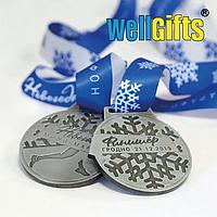 Медаль серебро с лентой