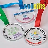 Медали с цветной печатью