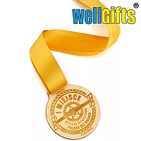 Медаль из фанеры с лентой