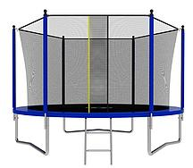 Батут с сеткой и лестницей Jumpy Comfort 8ft (240 см) (Синий)