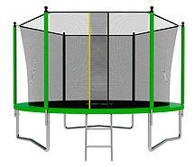 Батут с сеткой и лестницей Jumpy Comfort 8ft (240 см) (Зеленый)