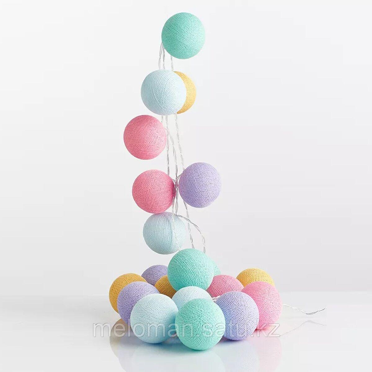 Гирлянда декоративная Парадайз 20 шаров/сеть - фото 1