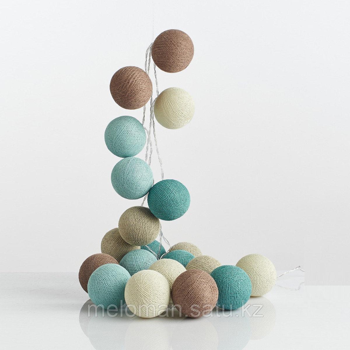 Гирлянда декаротивная Морская соль 20 шаров/сеть - фото 4