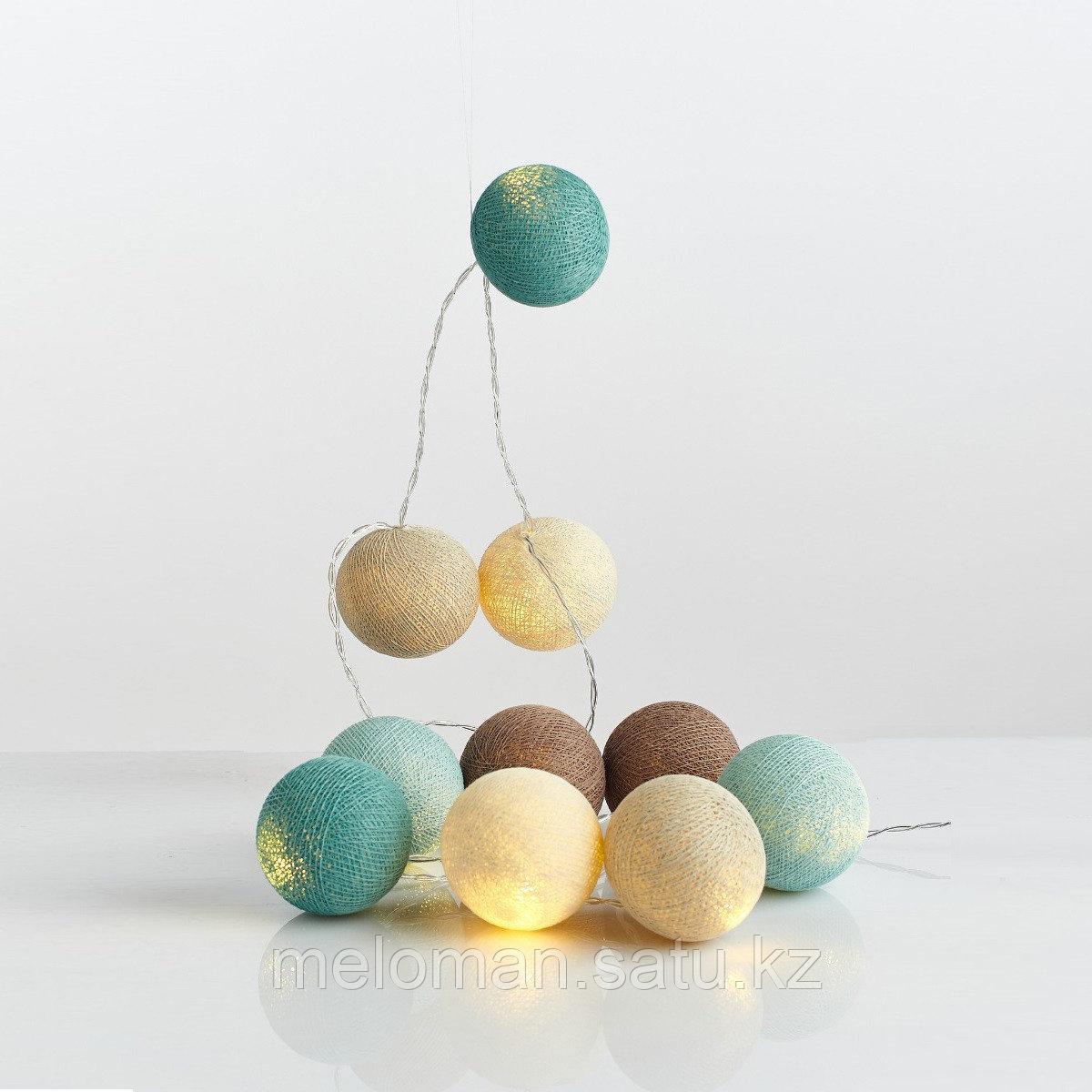 Гирлянда декаротивная Морская соль 20 шаров/сеть - фото 5