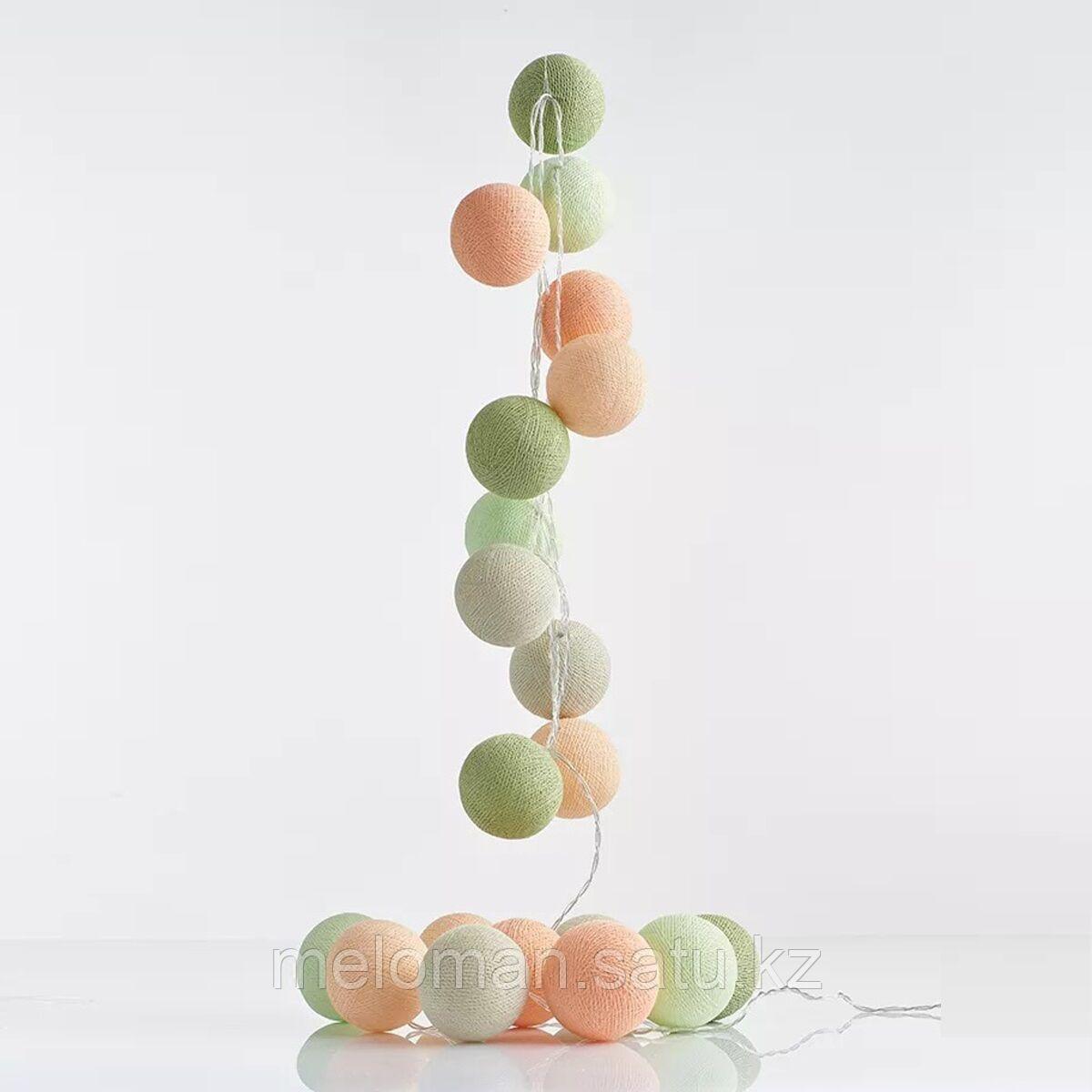 Гирлянда декоративная Эльф 20 шаров/сеть - фото 1