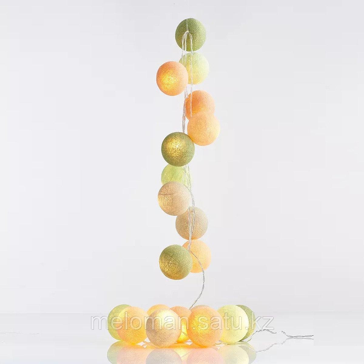 Гирлянда декоративная Эльф 20 шаров/сеть - фото 3