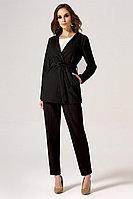 Женские осенние из вискозы черные деловые брюки Панда 24560z черный 46р.
