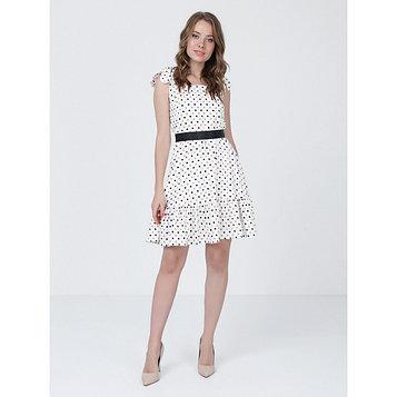 Платье женское, размер 52, цвет молочный, коричневый