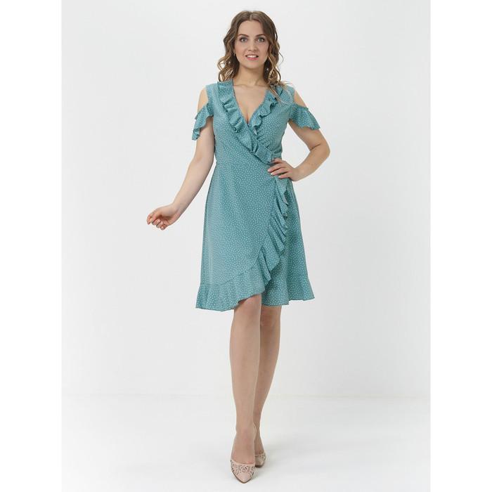 Платье с запахом женское, размер 42-44, цвет фисташковый