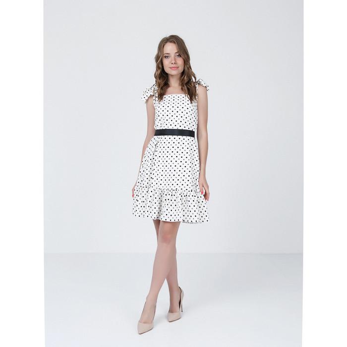 Платье женское, размер 48, цвет молочный, оливковый
