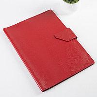 Папка для документов на клапане, 4 комплекта, цвет красный