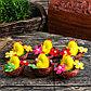 """Сувенир пасхальный """"Цыплёнок в гнезде с цветами"""" набор 6 шт 3х4х4 см, фото 2"""