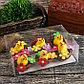 """Сувенир пасхальный """"Цыплёнок в гнезде с цветами"""" набор 6 шт 3х4х4 см, фото 3"""