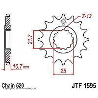 Звезда передняя, ведущая, JTF1595 для мотоцикла, стальная