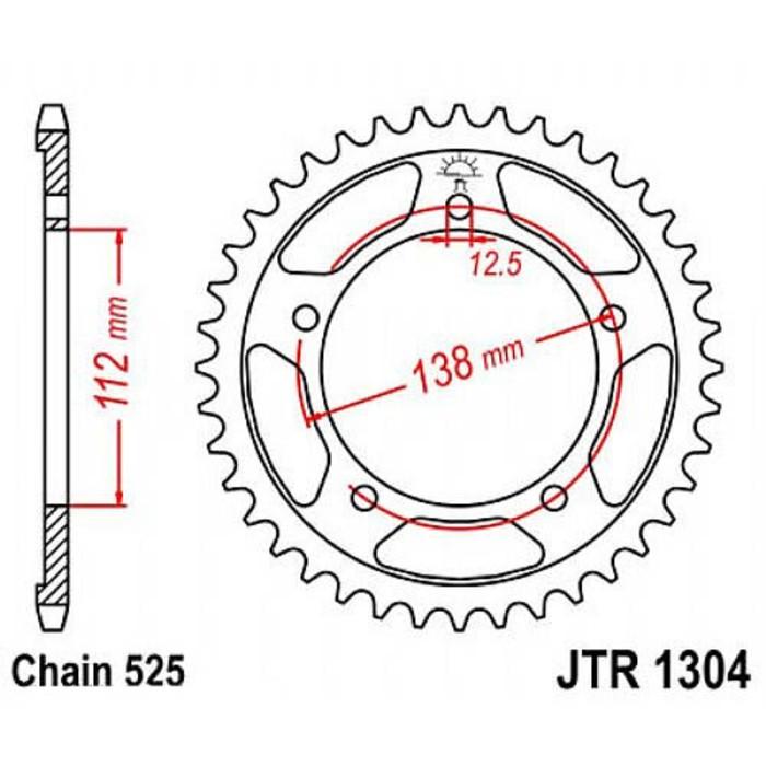 Звезда ведомая JT sprockets 1304.47