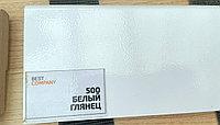 МДФ плинтус на ПВХ Белый глянец 2400*16*80