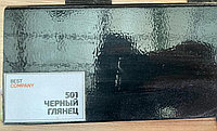 МДФ плинтус на ПВХ Черный глянец 2400х100х16