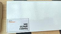 МДФ плинтус на ПВХ Белый глянец 2400х100х16
