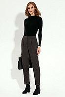 Женские осенние коричневые деловые брюки Prio 707960 коричневый 42р.