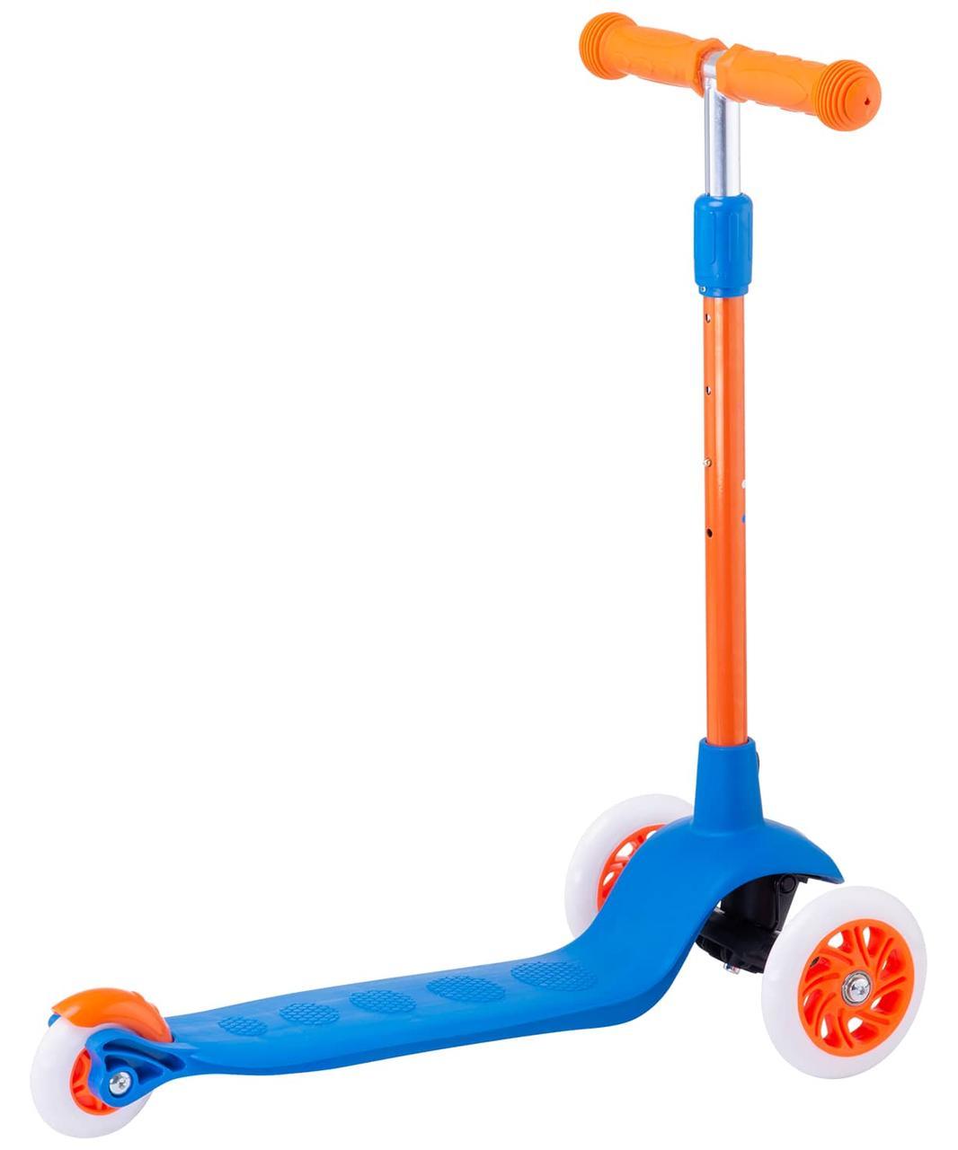 Самокат 3-колесный Hero, 120/80 мм, синий/оранжевый Ridex