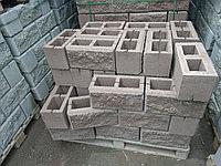 Сплитерный блок 390х190х190 Рваный Коричневый, фото 1