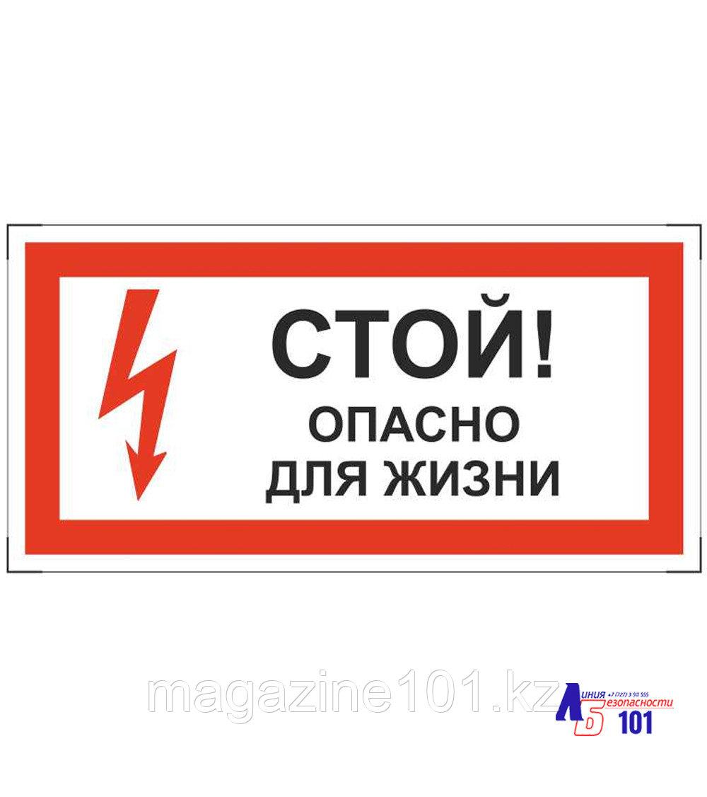 """Знак """"Стой опасно для жизни"""" ЭЛ-15"""