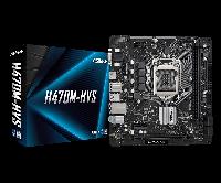 Intel 1200 H470 ASRock 2DDR4 4SATA VGA HDMI microATX (H470M-HVS), фото 1