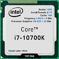 Core i7-10700K oem/tray