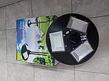 Светильник парковый уличный на солнечной батарее 120 ватт. Светильник на опору для аллей, светильники для улиц, фото 2