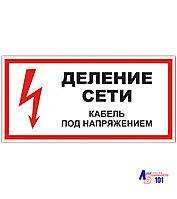 """Знак """"Деление сети Кабель под напряжением"""" ЭЛ-21"""