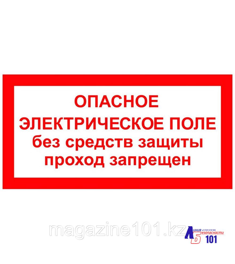 """Знак """"Опасное электрическое поле без средств защиты проход запрещён"""" ЭЛ-24"""
